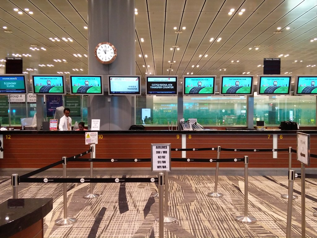 Airport transfer counter