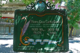 Buenos Aires - Museo Casa Carlos Gardel sign