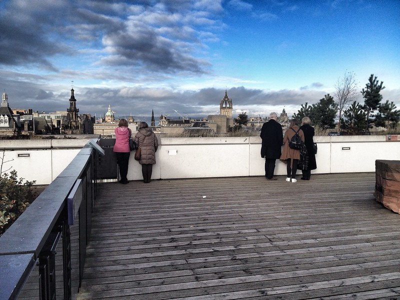 Roof terrace at the National Museum of Scotland in Edinburgh.
