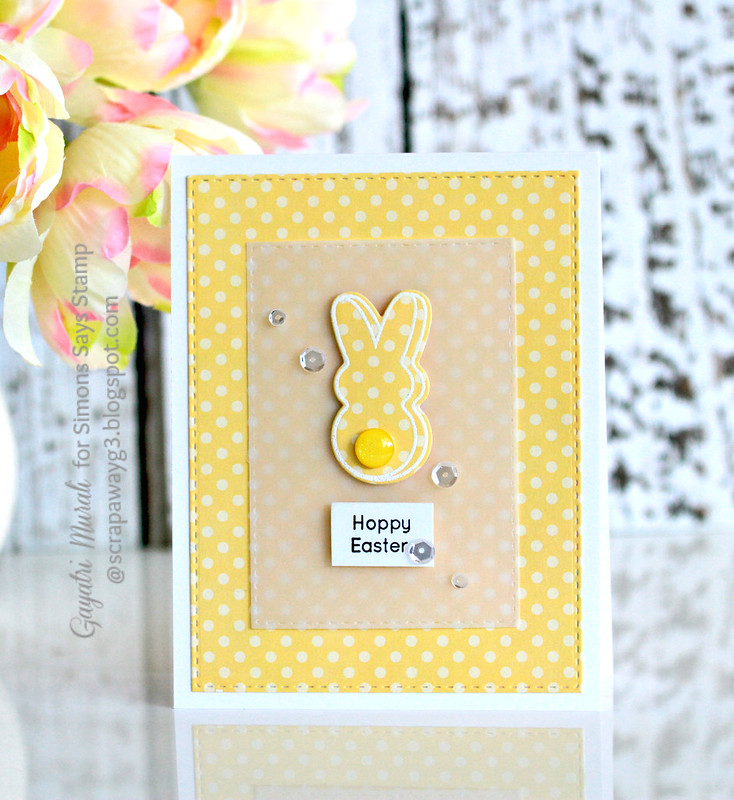 Happy Easter yellow polka dot