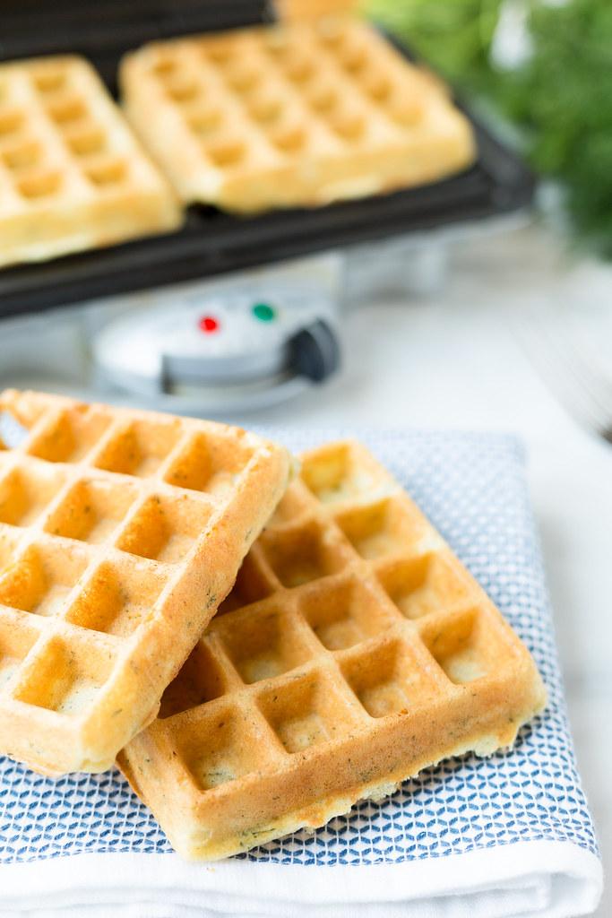 baked dill waffles