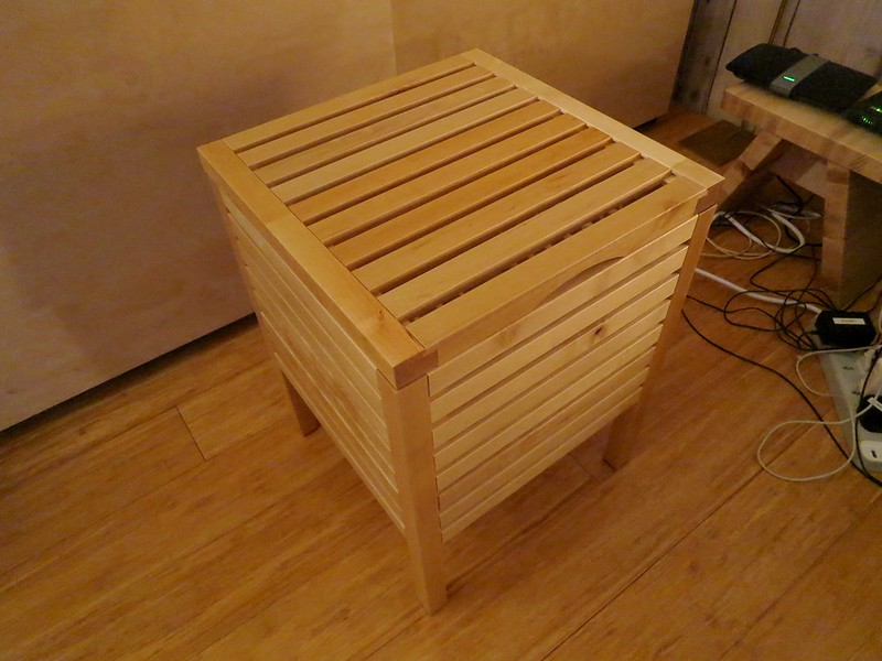 How to hide ugly cables using Ikea stool