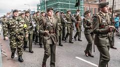 THE EASTER SUNDAY PARADE - PASSING ALONG BOLTON STREET IN DUBLIN [CELEBRATING THE EASTER 1916 RISING]-112979