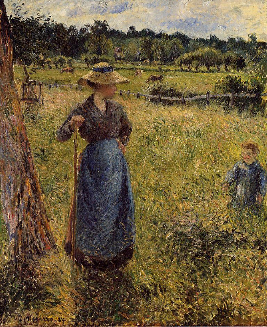 The Tedder by Camille Pissarro, 1884