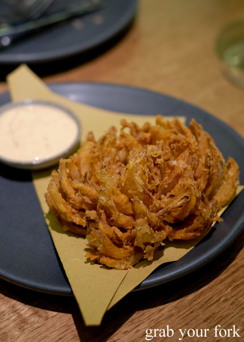 Blooming onion at Bar Brose, Darlinghurst