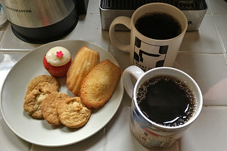 Everyday Coffee in the City - Peet's Coffee Arabian Mocha Java Cako Trader Joes cookies
