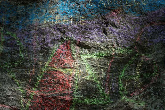 Chalk on rock #Rocky #FlickrFriday