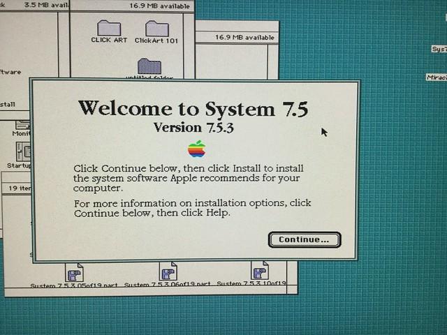 土, 2016-01-16 21:57 - ようやくLC IIIにインストールできたSystem 7.5.3
