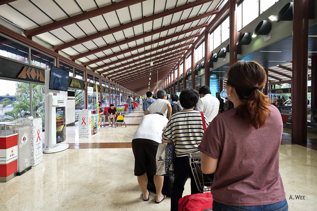 Security queue at Terminal 2F