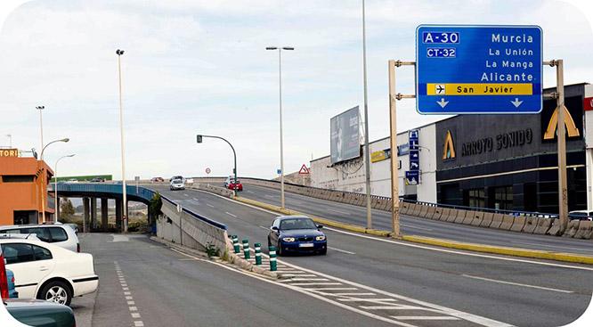 Mañana cierran el acceso a Cartagena por la autovía