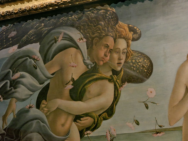 The Birth of Venus (Nascita di Venere), Galleria degli Uffizi, Florence [detail]