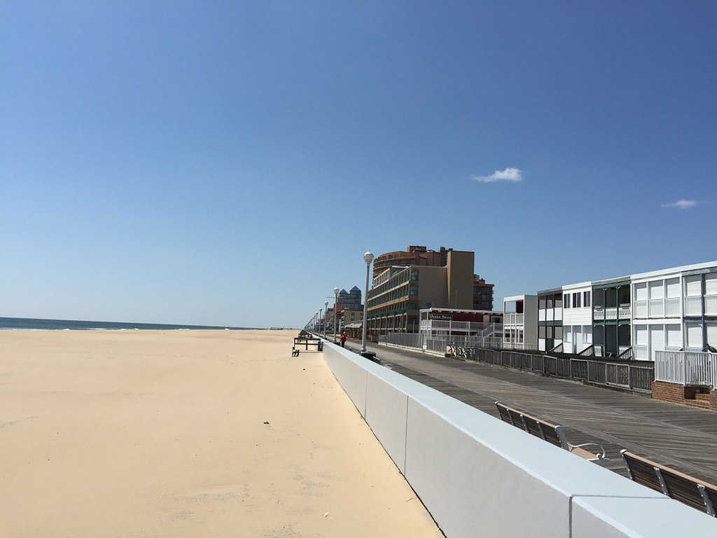 Empty Beach in Ocean City