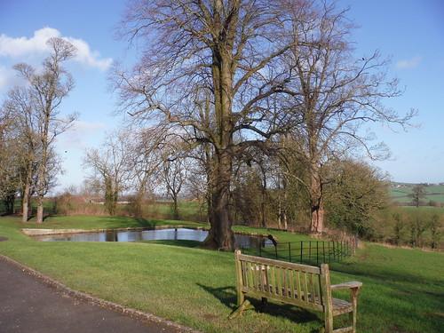 Pond outside Chilton House