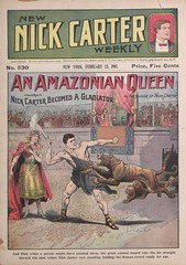 """""""An Amazonian queen, or, Nick Carter becomes a gladiator"""" in New Nick Carter weekly (New York, N.Y. : 1903), no. 530"""
