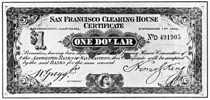 San Francisco Clearing House certificate 2
