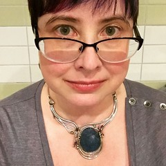 Mostly for the Byzantine glass necklace #latergram #selfie