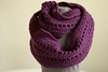 Eggplant Purple Handmade Crochet Infinity Scarf