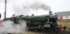 Witherslack Hall wreathed in steam