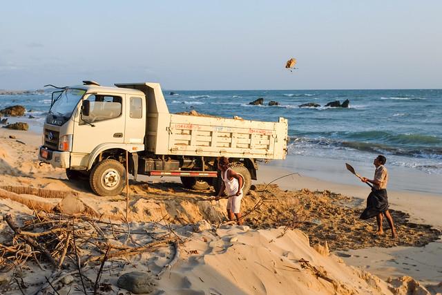Photo of Ngapali sand mining