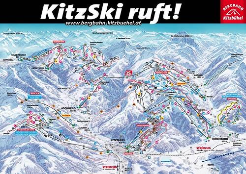 Kitzbühel - mapa sjezdovek