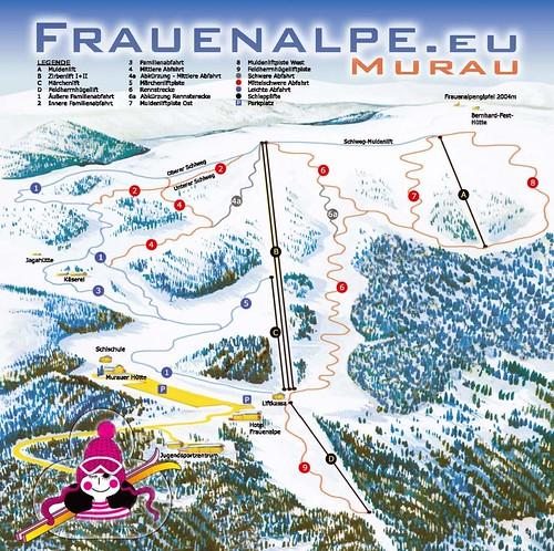 Frauenalpe - mapa sjezdovek