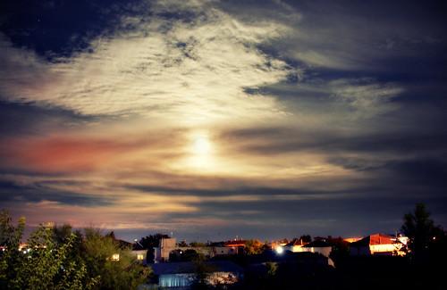 trees roof sky cloud moon skyline night clouds landscape greek nikon nightscape full greece macedonia nightsky nikkor dslr timeless macedonian makedonia d5200 μακεδονια macedoniagreece nikond5200