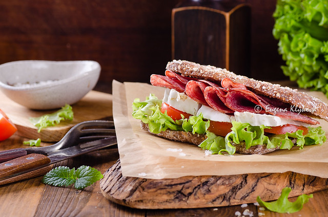 salami brie sandwich