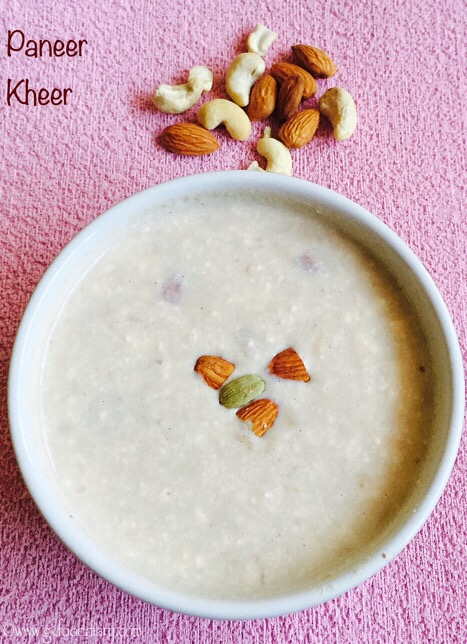 Paneer Kheer Recipe for Toddlers and Kids5
