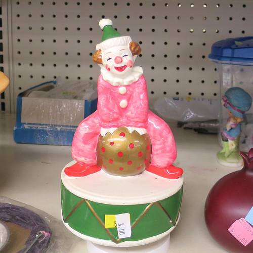 clown on a ball