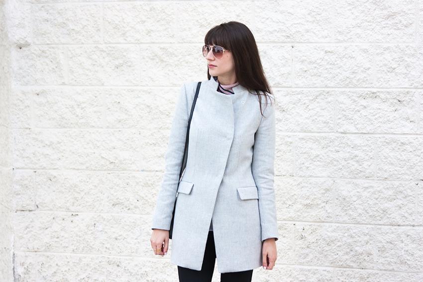 Zara Crossover Coat, Grey Coat