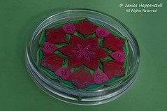 Spring mandala coasters: Tulip
