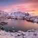 Early morning at Reine in Lofoten by Reidar Trekkvold