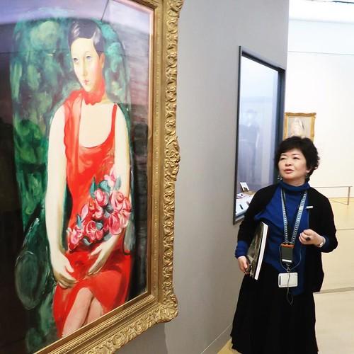 ポーラ美術館の学芸課長、Modern Beauty展担当の岩崎さんによる、ギャラリーツアー。 #polamuseum #MB展 #MuseumWeek #ミュージアムウィーク