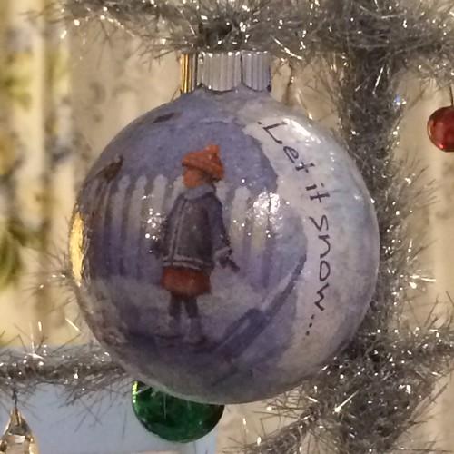 decoupage ornament / snow day