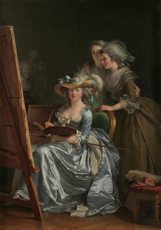 Adélaïde Labille-Guiard - Self-Portrait with Two Pupils, Marie Gabrielle Capet (1761–1818) and Marie Marguerite Carreaux de Rosemond (died 1788)