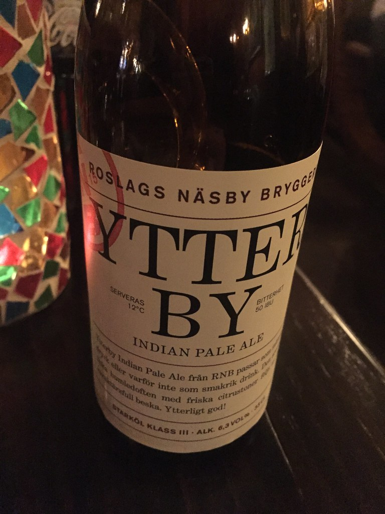 Ytterby Indian Pale Ale Roslags Näsby Bryggeri Täby