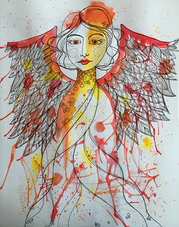 12 - Expand your Wings - Phoenix - Art Journal Page