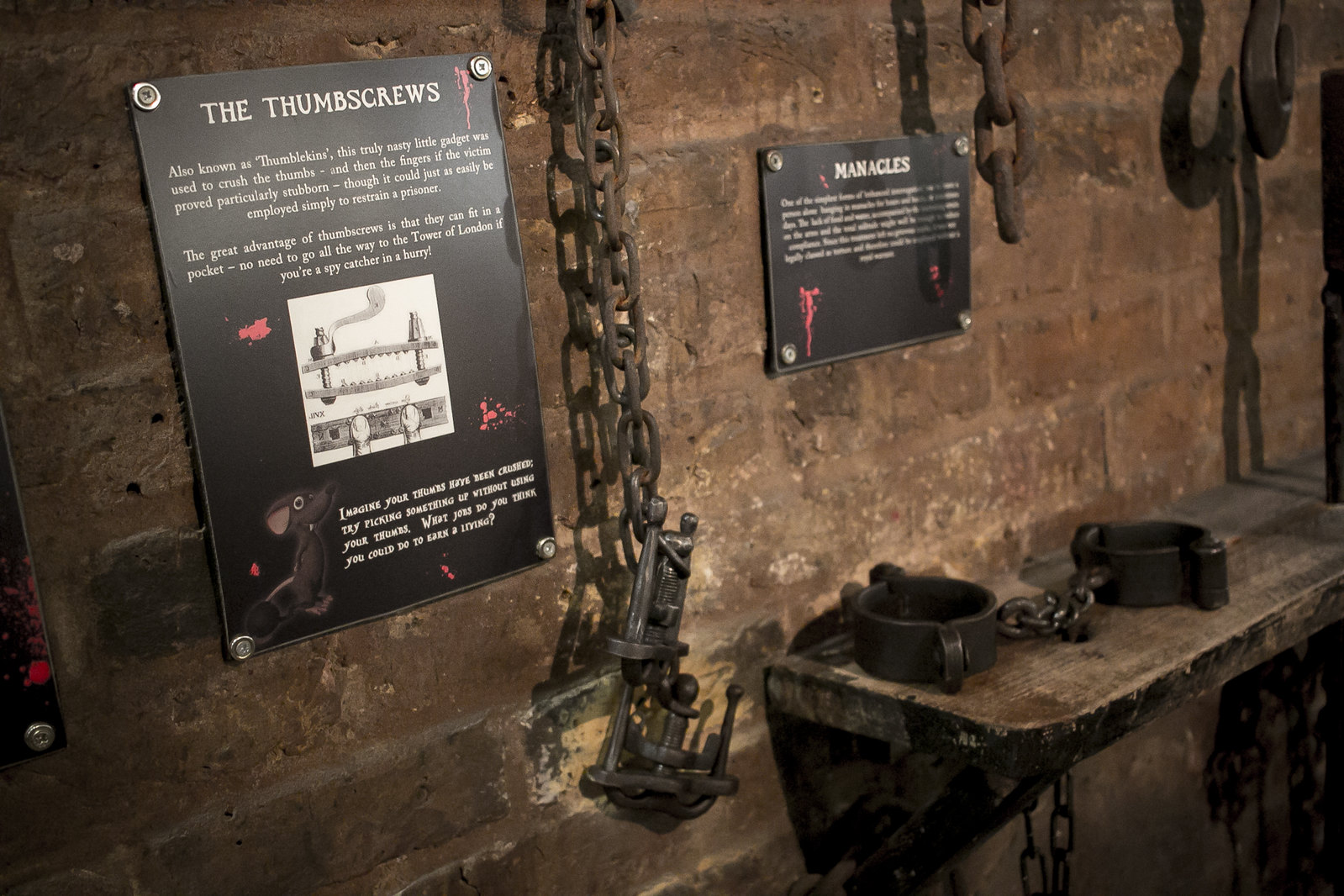 the clink, prison museum, the clink london, thumbscrews, manacles, medieval prison