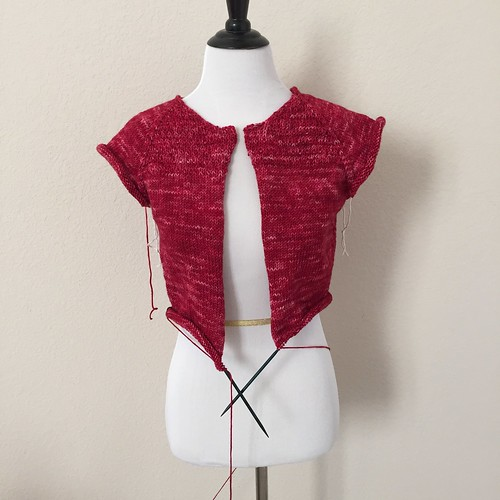 Heathered Ruby cardigan