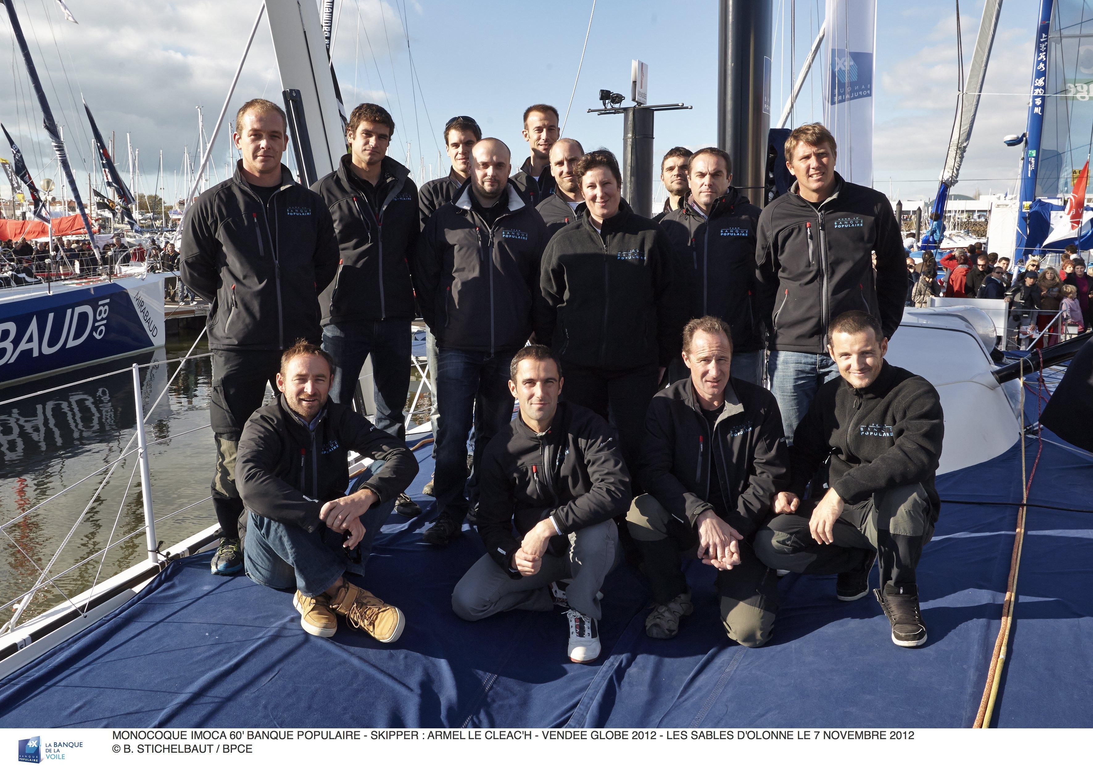 Le Team Banque Populaire - 09/11/2012 ©B.Stichelbaut  BPCE