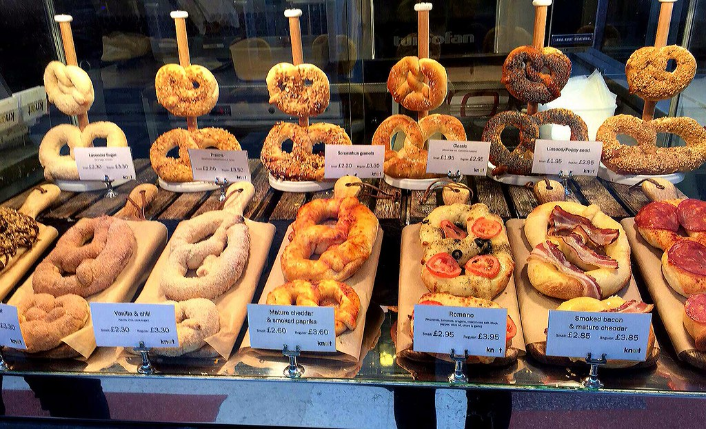 These artisan pretzels are my most favorite food in London. These can be found at Knot shop in London Victoria train station.