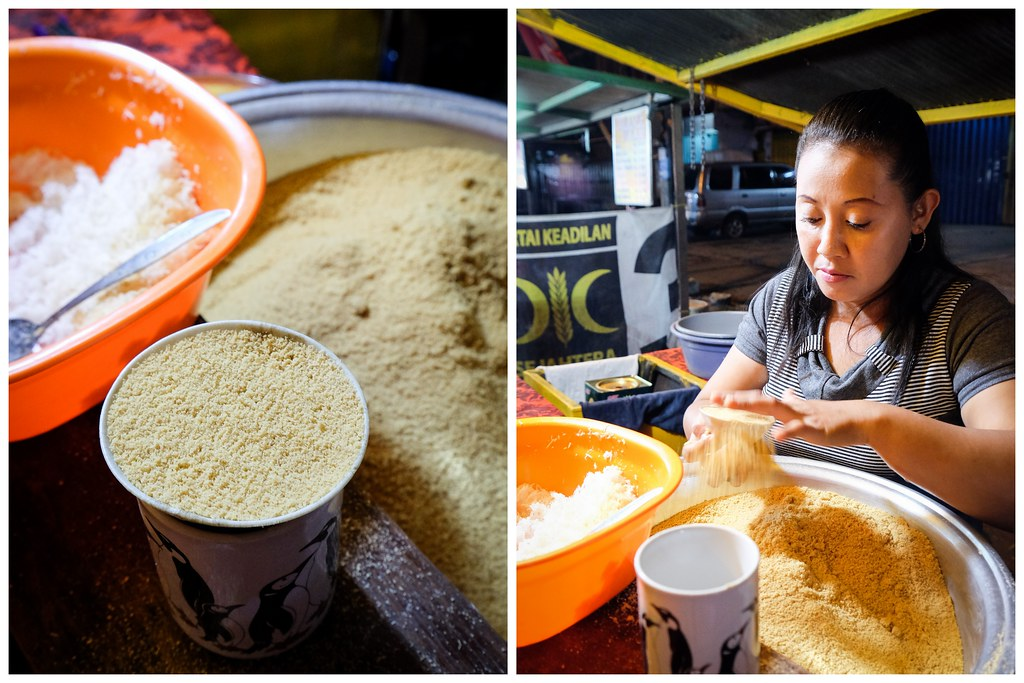 孟加锡食物:Putu Cangkir