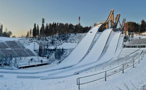 winter snow sport suomi finland landscape nikon frost extreme maisema lunta skijumping skijump nikond3200 urheilu pakkanen d3200 skijumpinghills hyppyrimäet skiingstadium