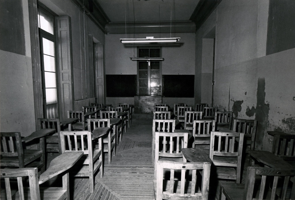 Aulas del colegio. Foto Fernando Medrano