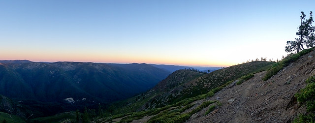 Sunset high on the Sierra Buttes