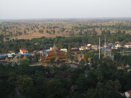 La campagne de Battambang: vue de Phnom Sampeu