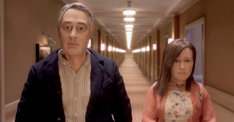 David Thewlis and Jennifer Jason Leigh are the only two people in the world -- for an evening -- in ANOMALISA.