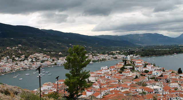 from above on Poros Greece