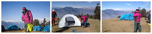 BongBlogger at Kedarkantha Base Camp - During Kedarkantha Summit 2016 in Winter , Uttrakhand, India
