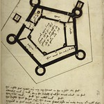 The earliest plan of Holt Castle dates to 1562. It was produced as part of a survey of the royal estates early in the reign of Queen Elizabeth I. © British Library, Harley Ms, 2073, f.113